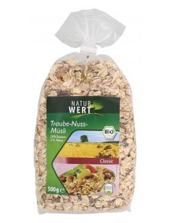 NaturWert Bio Traube-Nuss Müsli classic (500 g) - 4000446037598