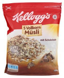 Kellogg's 5 Vollkorn Müsli Schokolade (500 g) - 5053827116107