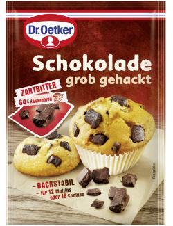 Dr. Oetker Schokolade grob gehackt Zartbitter