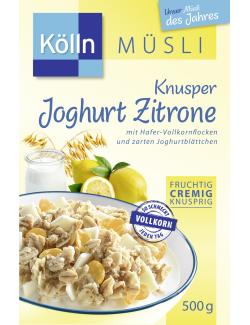 Kölln Müsli Knusper Joghurt Zitrone (500 g) - 4000540003123
