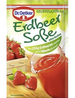 Dr. Oetker Gelierzucker für Erdbeersoße