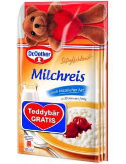 Dr. Oetker Süße Mahlzeit Milchreis klassisch Teddybär gratis (375 g) - 4000521016739