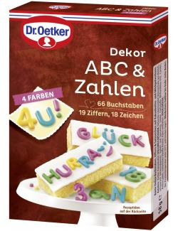 Dr. Oetker Dekor ABC & Zahlen