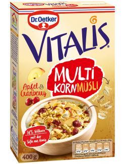 Dr. Oetker Vitalis Multikorn Müsli Apfel & Cranberry