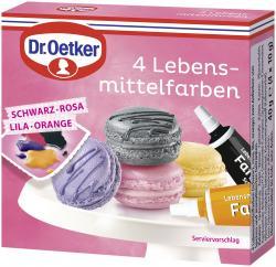 Dr. Oetker 4 Lebensmittel-Farben