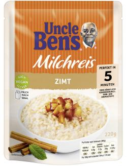 Uncle Ben's Express Milchreis Zimt