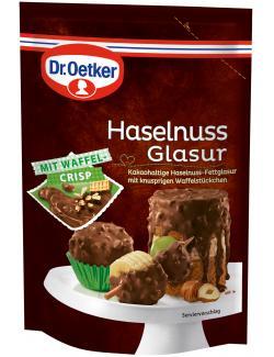 Dr. Oetker Haselnuss Glasur mit Waffel Crisp