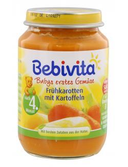 Bebivita Frühkarotten mit Kartoffeln (190 g) - 4018852101413