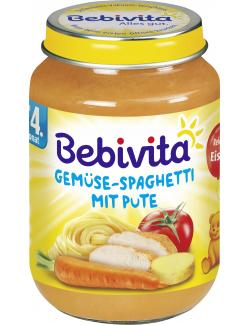 Bebivita Gemüse Spaghetti mit Pute (190 g) - 4018852103417