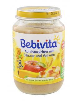 Bebivita Apfelstückchen mit Banane und Vollkorn (190 g) - 4018852002710