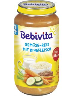 Bebivita Menü Gemüse-Reis mit Rindfleisch