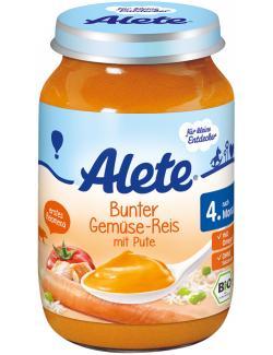 Alete Bunter Gemüse-Reis mit Pute (190 g) - 4005500024415