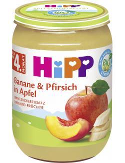 Hipp Banane und Pfirsch in Apfel
