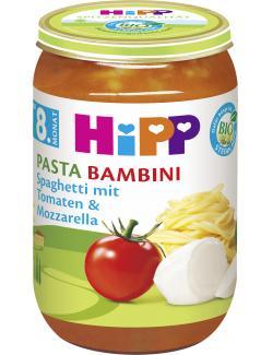 Hipp Pasta Bambini Spaghetti mit Tomaten & Mozzarella (220 g) - 4062300032316