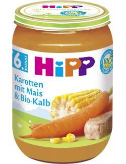 Hipp Karotten mit Mais & Bio Kalb (190 g) - 4062300030367
