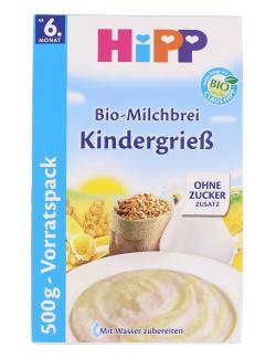 Hipp Bio Milchbrei Kindergrieß (500 g) - 4062300060531