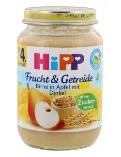 Hipp Frucht & Getreide Birne in Apfel mit Dinkel (190 g) - 4062300094222