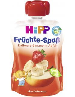 Hipp Früchte-Spaß Erdbeer-Banane in Apfel (90 g) - 4062300165137