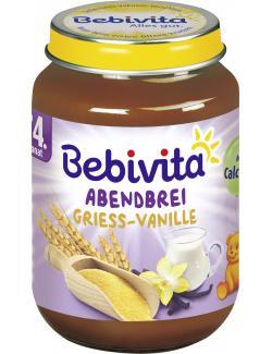 Bebivita Abendbrei Grieß-Vanille (190 g) - 4018852021001