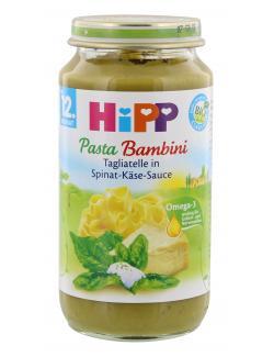 Hipp Pasta Bambini Tagliatelle in Spinat-Käse-Sauce (250 g) - 4062300036611