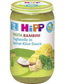 Hipp Pasta Bambini Tagliatelle in Spinat-Käse-Sauce