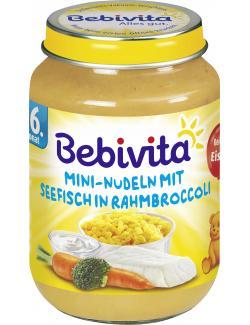 Bebivita Menü Mini-Nudeln mit Seefisch in Rahmbroccoli