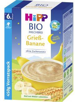 Hipp Bio Milchbrei Gute Nacht Grieß-Banane