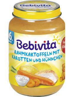Bebivita Menü Rahmkartoffeln mit Karotten und Hühnchen