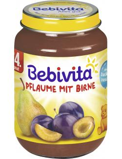 Bebivita Pflaume mit Birne ab dem 4. Monat (190 g) - 4018852014690