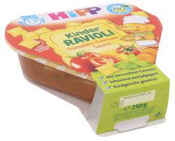 Hipp Kinder Bio Ravioli in Tomaten-Gemüse Sauce (250 g) - 4062300200654