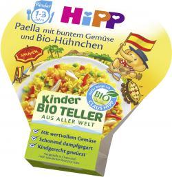 Hipp Kinder Bio Teller Paella mit buntem Gemüse und Bio-Hühnchen
