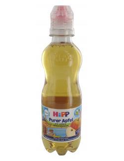 Hipp Getränk purer Apfel mit stillem Mineralwasser