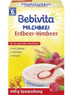 Bebivita Milchbrei Erdbeer-Himbeer (600 g) - 4018852007333