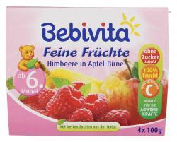Bebivita Feine Früchte Himbeere in Apfel-Birne (4 x 100 g) - 4018852016748