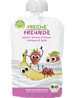 Erdbär Freche Freunde Fruchtmus Erdbeere & Himbeere im Joghurt (100 g) - 4260249140639