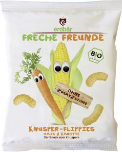 Erdbär Freche Freunde Knusper-Flippies Mais & Karotte