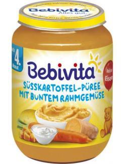 Bebivita Süsskartoffel-Püree mit buntem Rahmgemüse