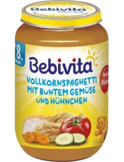 Bebivita Vollkornspaghetti mit buntem Gemüse und Hühnchen