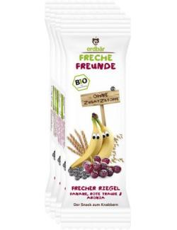 Erdbär Freche Freunde Fruchtriegel Banane-Rote Traube-Aronia