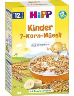Hipp Kinder 7-Korn-Müesli mit Banane