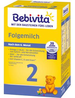 Bebivita Folgemilch 2 nach 6. Monat