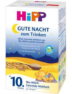 Hipp Bio Milch-Getreide-Mahlzeit Gute Nacht zum Trinken