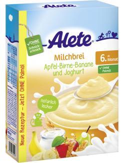 Alete Milchbrei Apfel- Birne-Banane und Joghurt