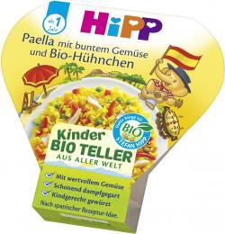 Hipp Kinder BioTeller Paella mit buntem Gemüse und Bio-Hühnchen