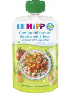 Hipp Herzhafte Menü-Quetschbeutel Gemüse-Hühnchen-Risotto mit Erbsen
