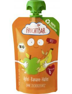 FruchtBar Bio Fruchtpüree Apfel, Banane, Hafer