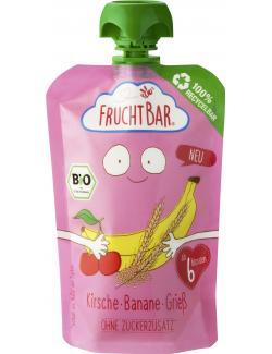 FruchtBar Bio Fruchtpüree Kirsche, Banane, Grieß