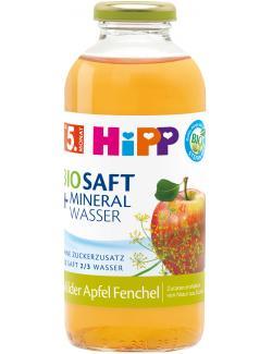 Hipp Bio Saft + Mineralwasser Milder Apfel Fenchel