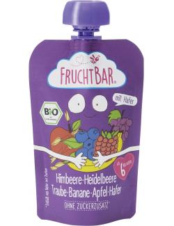 FruchtBar Bio Fruchtpüree Himbeere-Heidelbeere-Traube-Banane-Apfel-Hafer