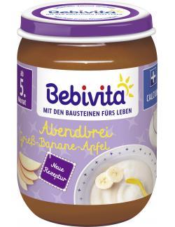 Bebivita Abendbrei Grieß-Banane-Apfel